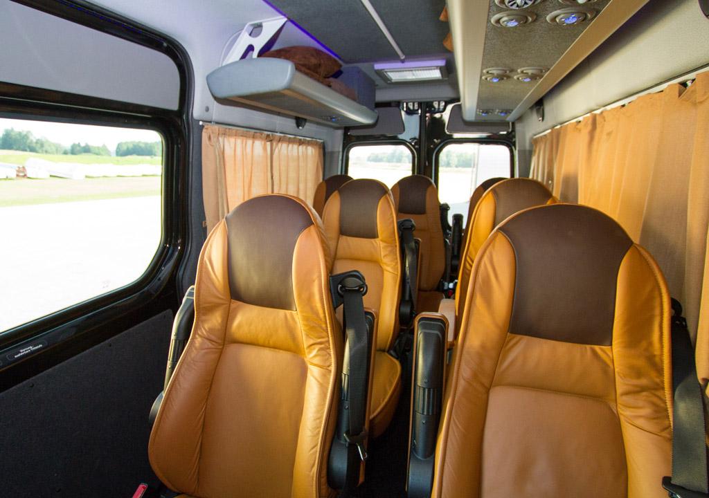 Mercedes Benz Sprinter 8 Personen Luxus VIP Bus Transfer Ibel München
