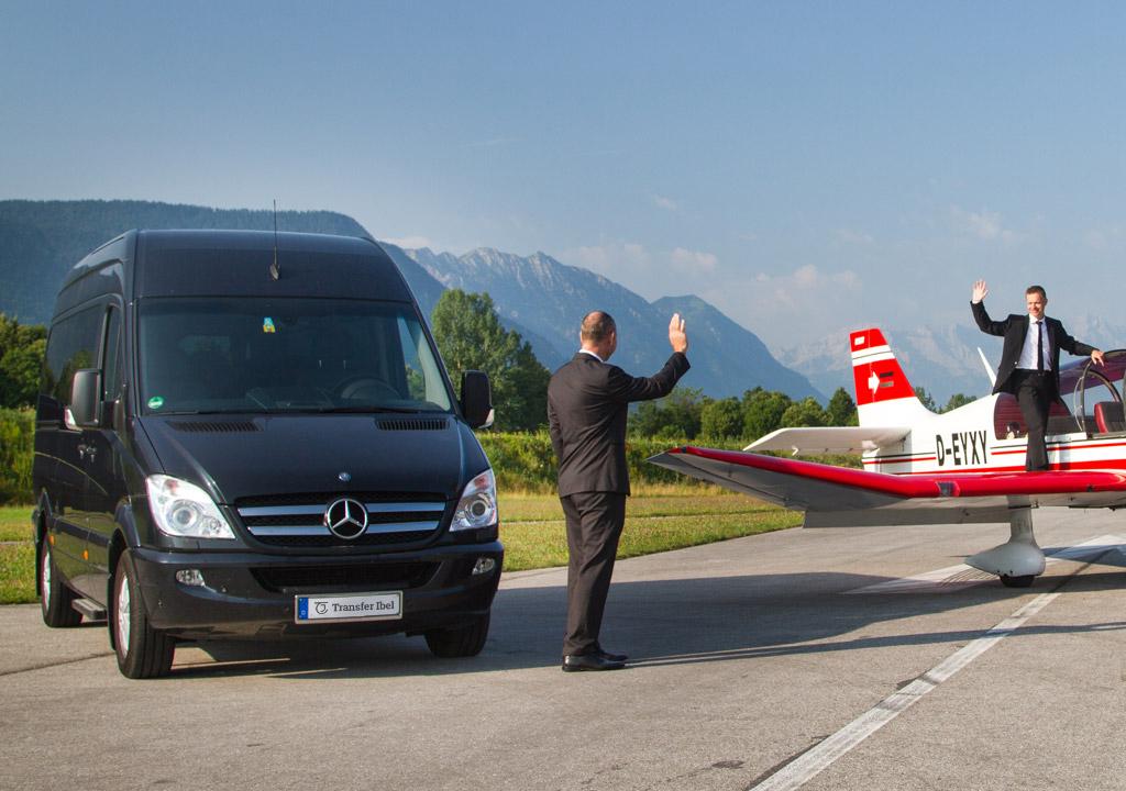 Mercedes Benz 8 Personen Luxus VIP Bus Transfer Ibel München