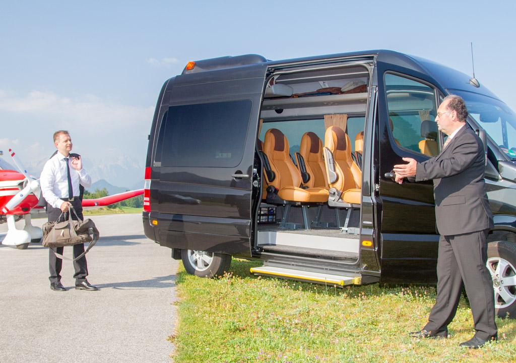 Mercedes Benz Sprinter 8 Personen Luxus VIP Bus Transfer Ibel Munich
